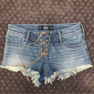 low rise tie american eagle shorts